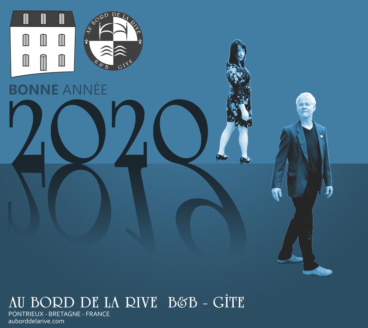 bonne-annee 2020 au bord de la rive Pontrieux Bretagne