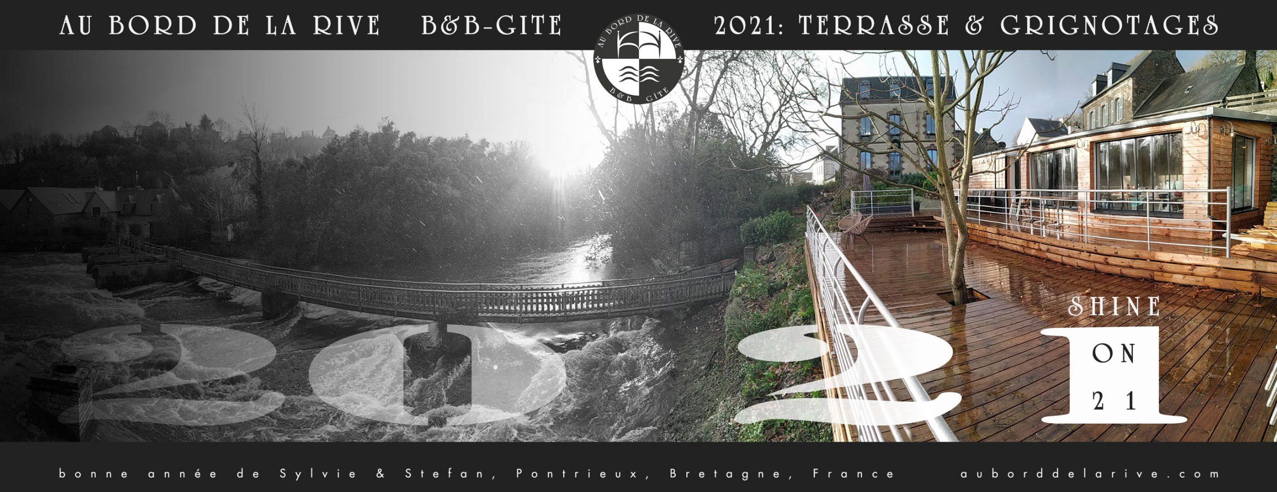 bonne année de Sylvie & Stefan, AU BORD DE LA RIVE Pontrieux, Bretagne, France auborddelarive.com